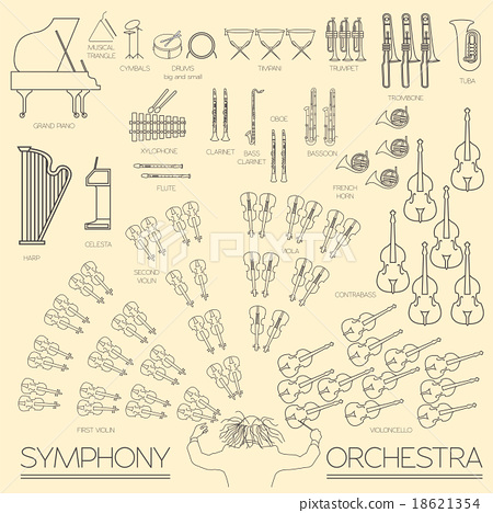 Musical instruments graphic template. Infographic  18621354