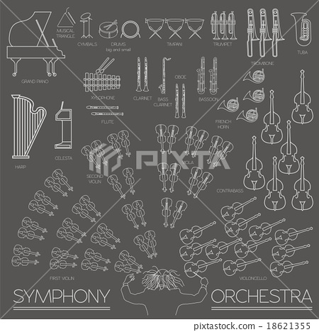 Musical instruments graphic template. Infographic  18621355