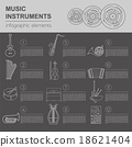 Musical instruments graphic template. Infographic 18621404