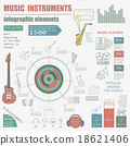 Musical instruments graphic template. Infographic 18621406