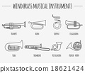 Musical instruments graphic template. Wind brass. 18621424
