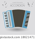 Musical instruments graphic template. Accordion. 18621471