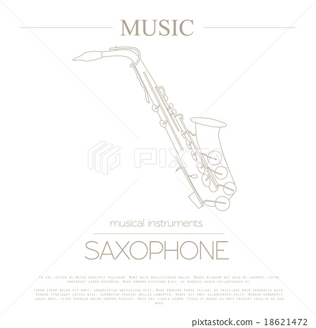 Musical instruments graphic template. Saxophone 18621472