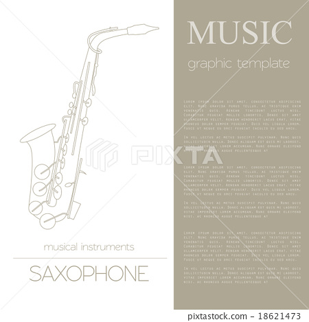 Musical instruments graphic template. Saxophone 18621473