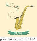 Musical instruments graphic template. Saxophone 18621476