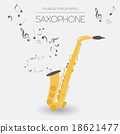 Musical instruments graphic template. Saxophone 18621477