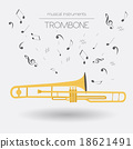 Musical instruments graphic template. Trombone 18621491