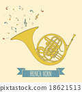 Musical instruments graphic template. French horn. 18621513