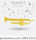 Musical instruments graphic template. Trumpet 18621524