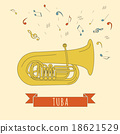 Musical instruments graphic template. Tuba. 18621529