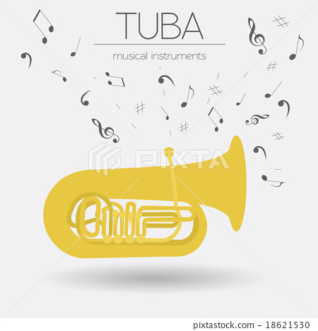 Musical instruments graphic template. Tuba. 18621530