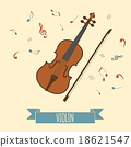 Musical instruments graphic template. Violin. 18621547