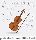 Musical instruments graphic template. Violin. 18621548