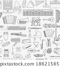 Musical instruments seamless pattern 18621565