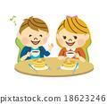 咖啡廳 矢量 煎餅 18623246