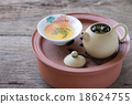 Chinese tea set on wooden,Closeup. 18624755