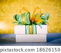 Christmas gift box on table. 18626150