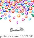 Gemstones Background Illustration 18628001