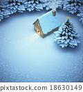 aerial view snow christmas. 18630149