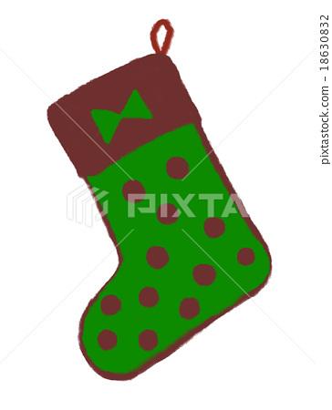 크리스마스 양말 18630832
