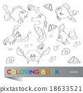 Coloring book - marine life 18633521