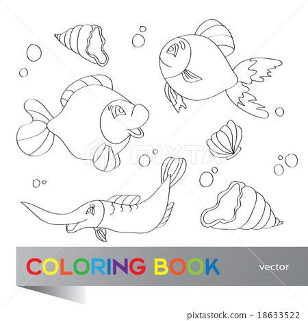 Coloring book - marine life 18633522