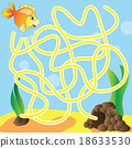Puzzle for kids - marine life 18633530