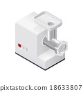 Meat mincer detailed isometric icon 18633807