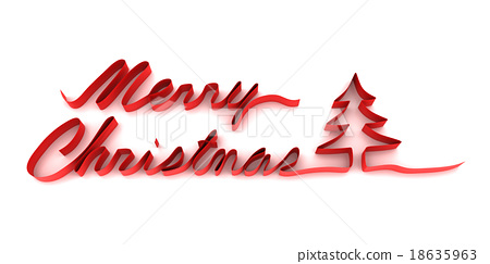 Ribbon forming the word Merry Christmas and xmas - Stock ...