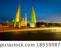 Democracy monument of Bangkok, Thailand shot at dusk 18639987