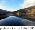奧多摩町湖 海灣 湖 18643785