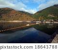 奧多摩町湖 蓄水池 海灣 18643788
