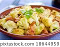 Roasted Cauliflower with Ham 18644959
