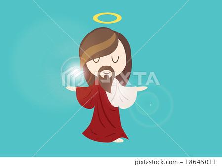 cute jesus god character design illustration vecto 18645011