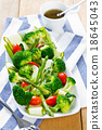 Broccoli with Asparagus and Zucchini salad 18645043