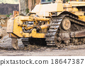 Bulldozer working 18647387