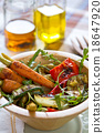 Grilled vegetables with Rocket salad 18647920