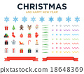 Marry Christmas and Happy New Year modern design 18648369