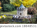 Turret in Bojnice, autumn park, seasonal colorful park scene 18648531