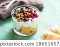 Granola with Greek yougurt and Cantaloupe 18651657