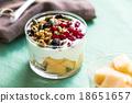 Granola with Greek yougurt and Cantaloupe 18651657