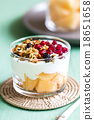 Granola with Greek yougurt and Cantaloupe 18651658
