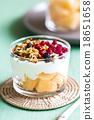 Granola with Greek yougurt and Cantaloupe 18651658