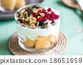 Granola with Greek yougurt and Cantaloupe 18651659