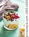 Granola with Greek yogurt and Cantaloupe 18651660