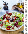 Grape with Radicchio, Rocket and Feta cheese salad 18651663