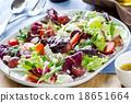 Grape with Radicchio, Rocket and Feta cheese salad 18651664