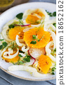 Orange with Fennel and Radish salad 18652162
