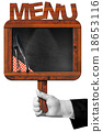 Chef with Old Blackboard with Text Menu 18653116