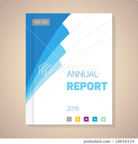 annual report cover vector illustration stock illustration